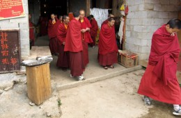 Monks at Songtsam Temple