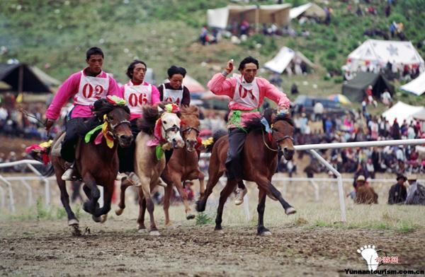 香格里拉传统赛马节(农历5月5日)